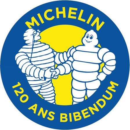 Logo Michelin pour les 120 ans du BIBENDUM