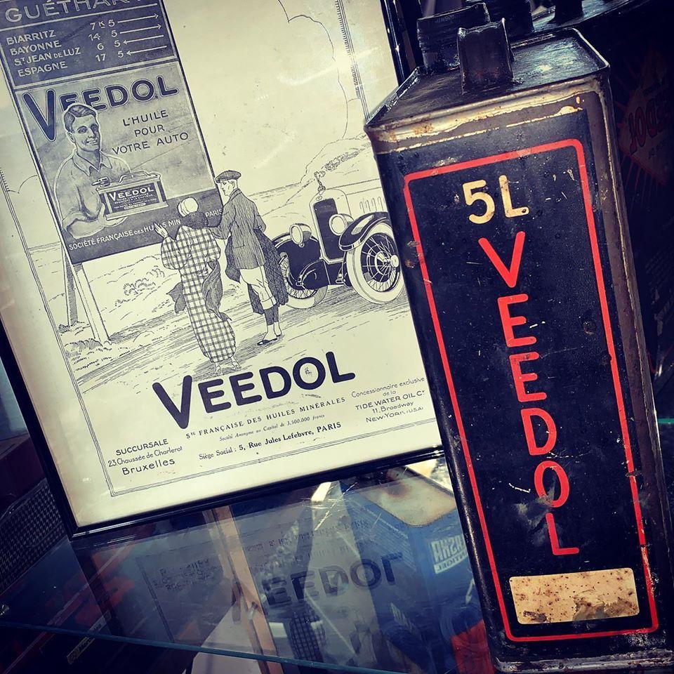 Bidon veedol 5l très rare ainsi que publicité d'époque original 1925 (2/3)