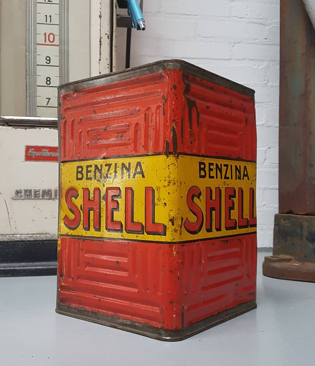 Bidon SHELL BENZINA (Italie)